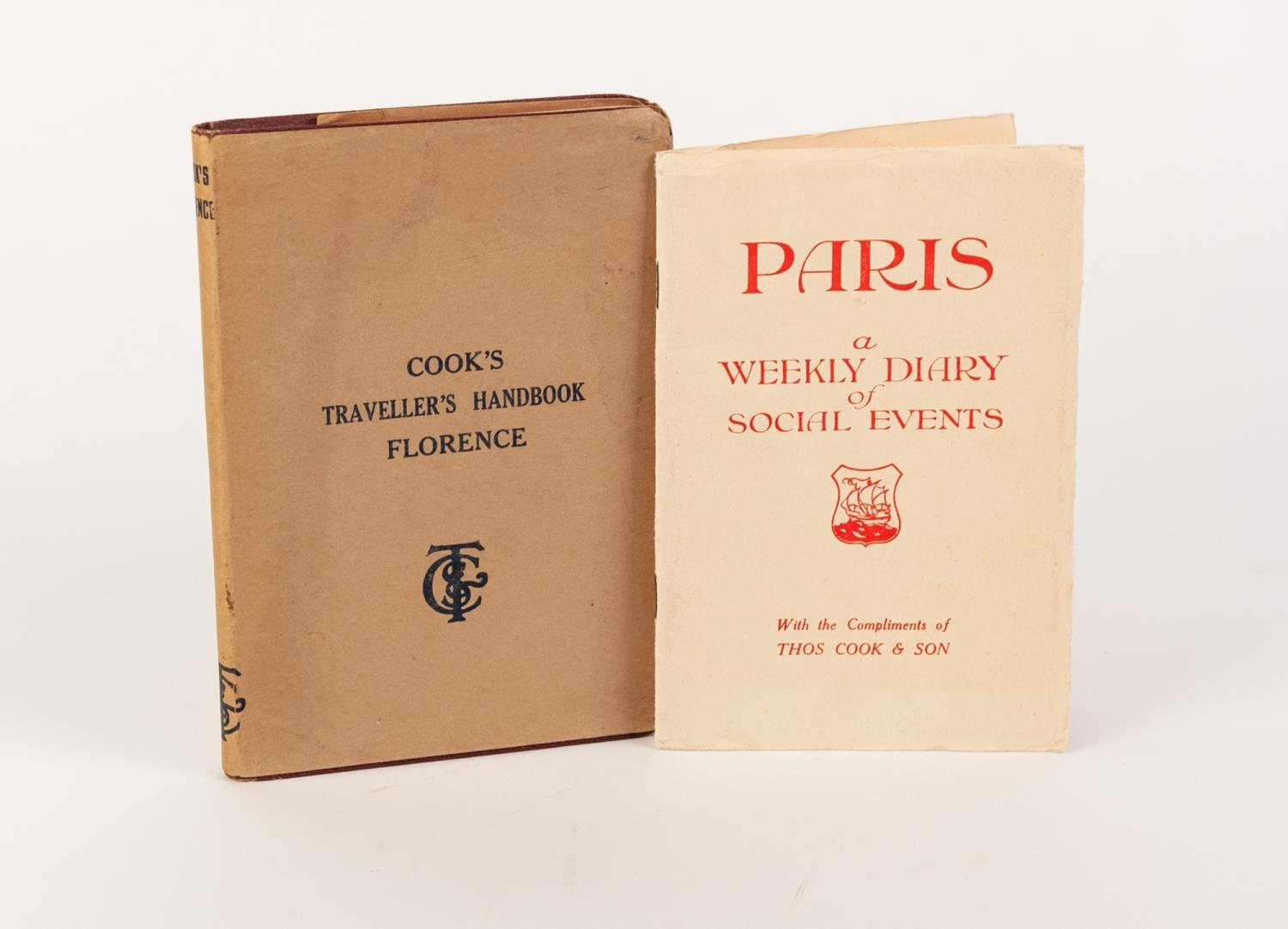 Lot 79 - TRAVEL EXPLORATION- Cook?s Travelers Handbook Florence, 1924, complete with publisher?s original dj,