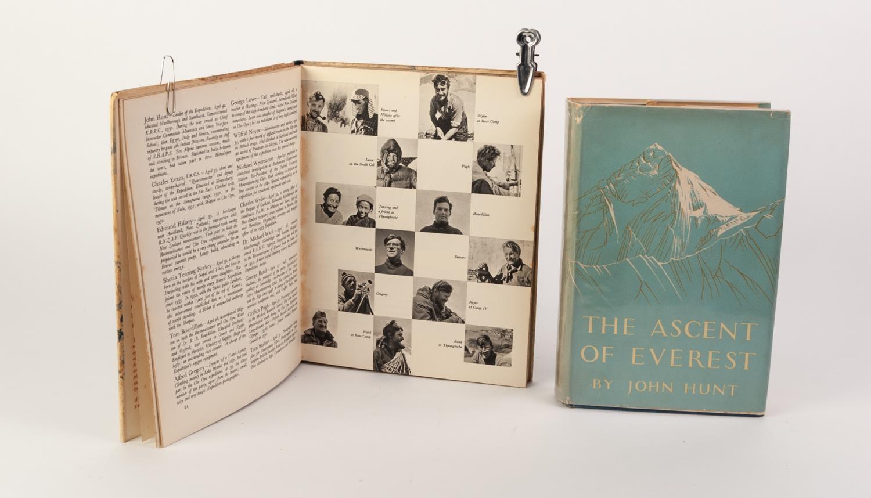 Lot 75 - TRAVEL EXPLORATION- John Hunt- Our Everest Adventure, published by Brockhampton press 1954 1st Ed,