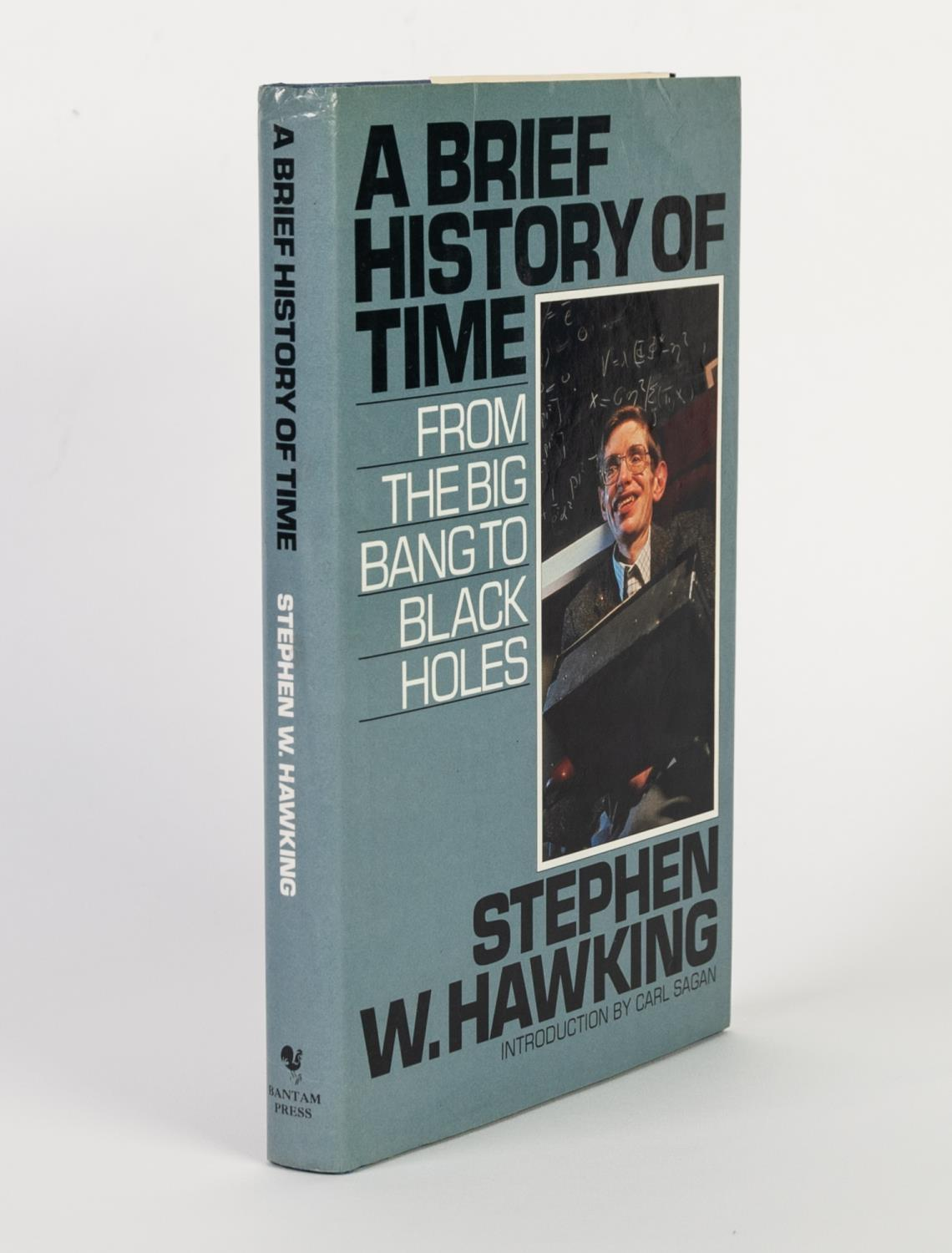 Lot 144 - STEPHEN W HAWKING - A BRIEF HISTORY OF TIME FROM THE BIG BANG TO THE BLACK HOLES, published Bantam