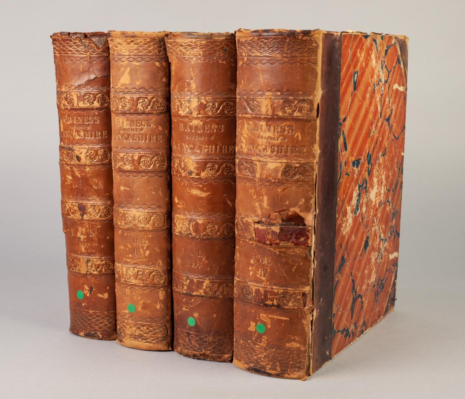 Lot 18 - E BAINES, HISTORY OF LANCASHIRE COUNTY PALATINE AND DUCHY OF LANCASTER, 4 volumes, published