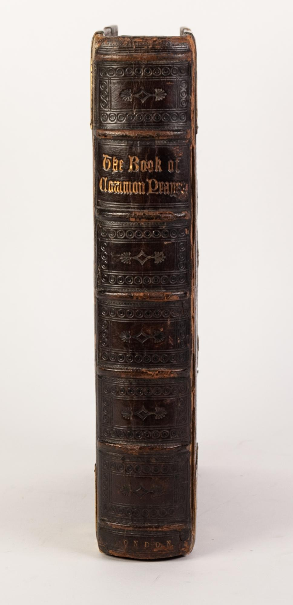 Lot 42 - BOOK OF COMMON PRAYER Wm Pickering 1844. Fine red and black printing, elaborately bound in full calf