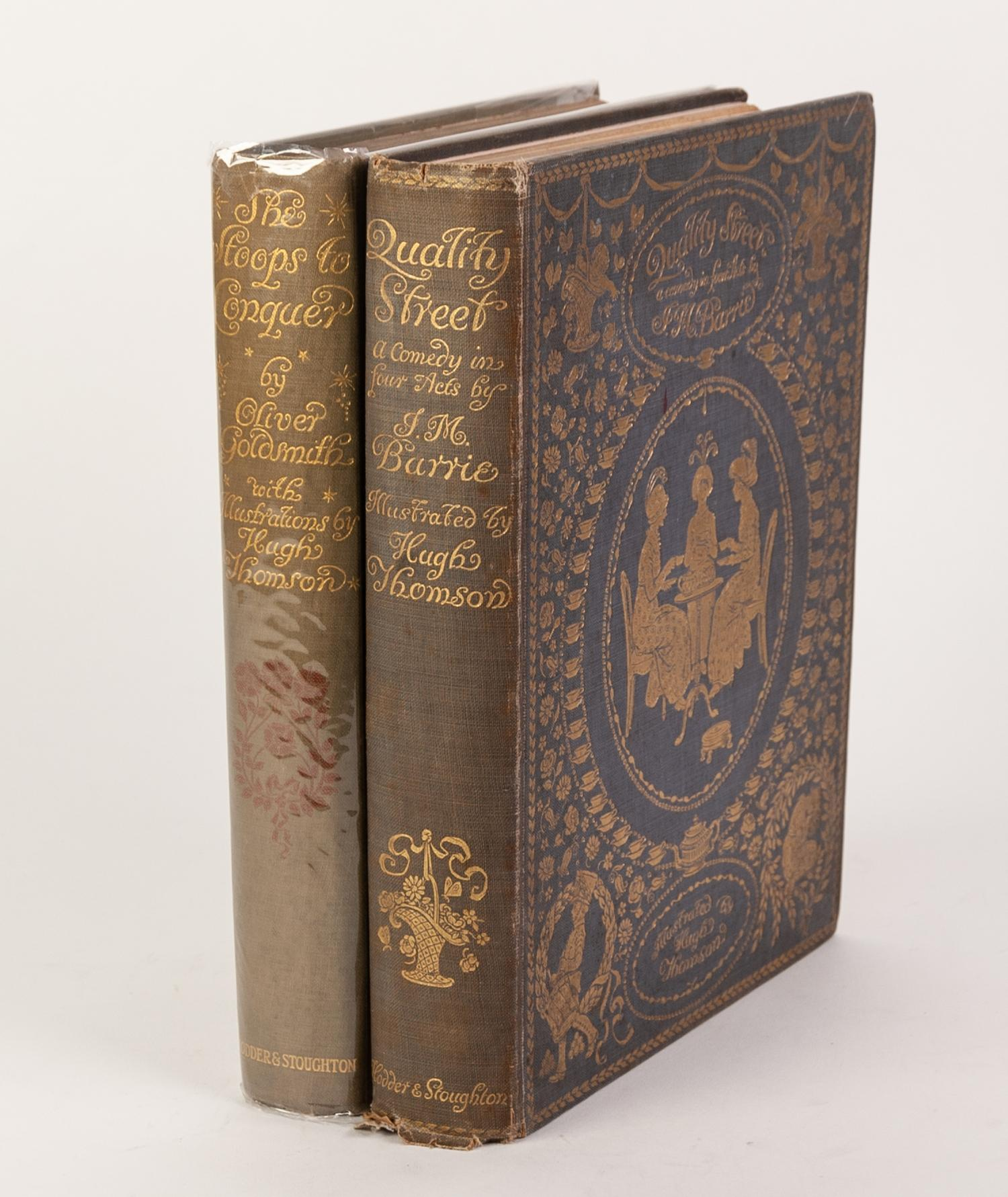 Lot 44 - HUGH THOMSON ILLUSTRATIONS - GOLDSMITH'S SHE STOOPS TO CONQUER with twenty five coloured plates,