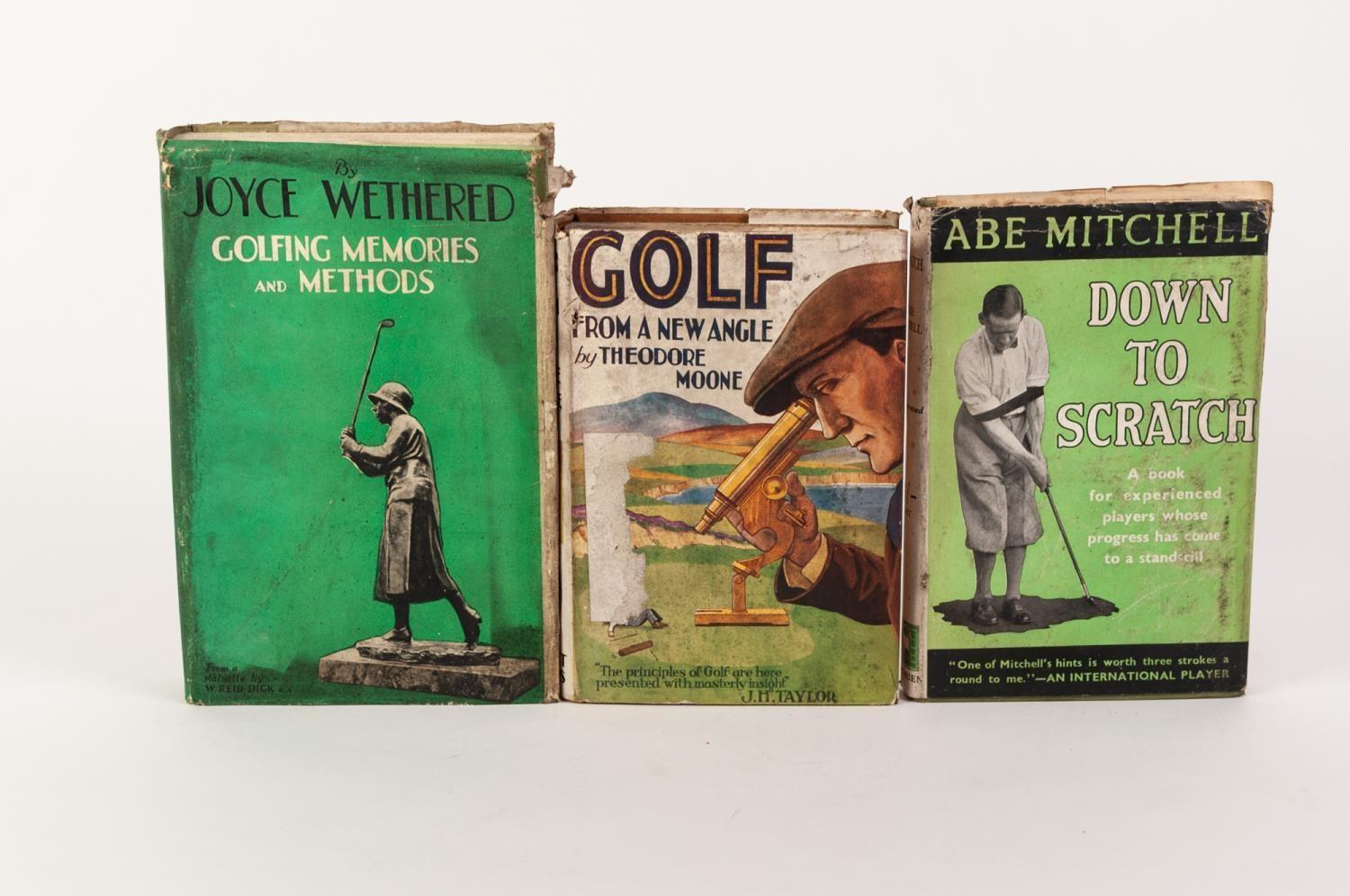 Lot 63 - GOLF- Abe Mitchell- Down to Scratch, pub Methuen 1933, 1st Edition review copy with dj. Joyce