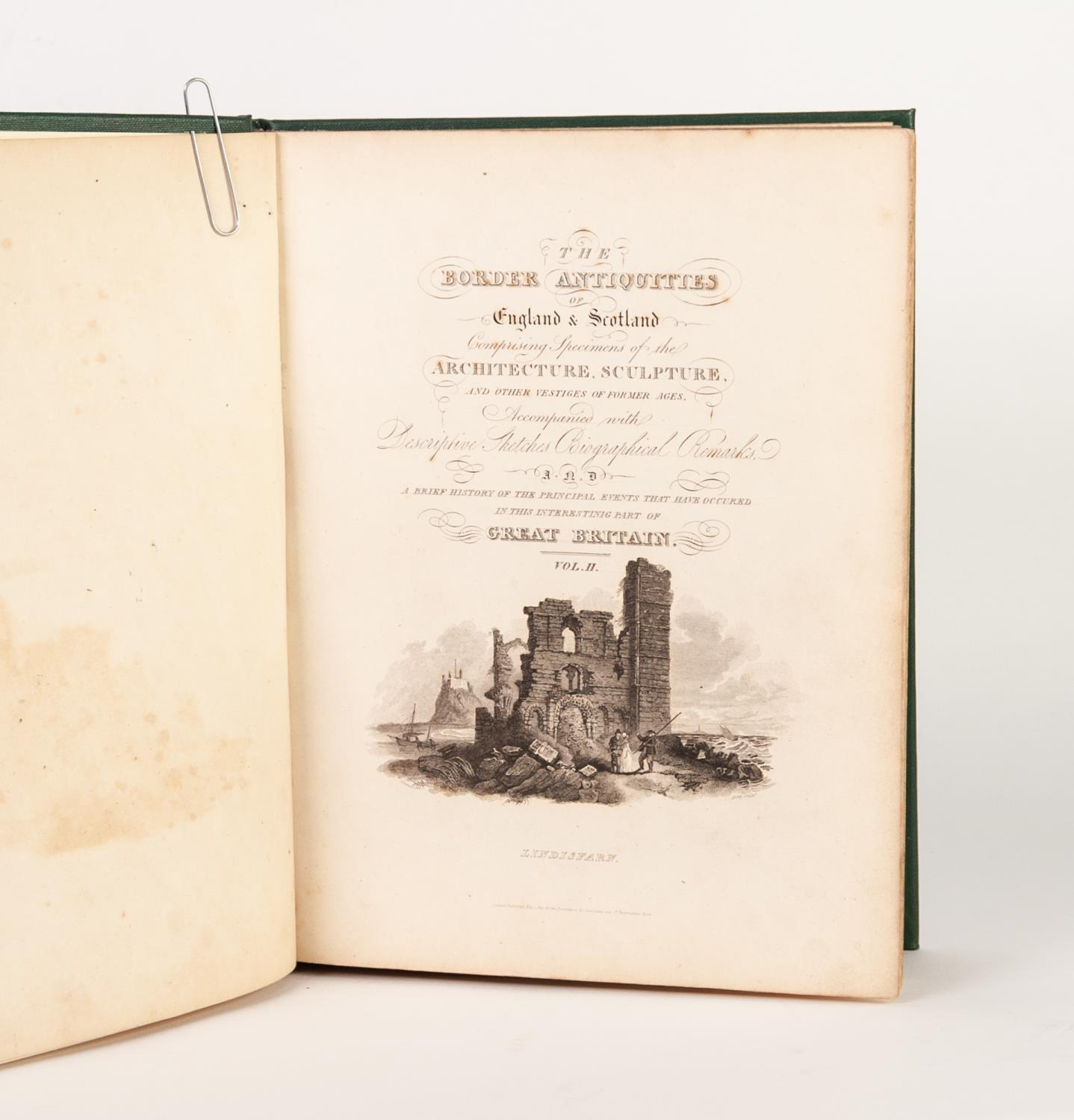 Lot 148 - Walter Scott- The Border Antiquities of England and Scotland, 2 vol, printed by Longman, Hurst, Rees