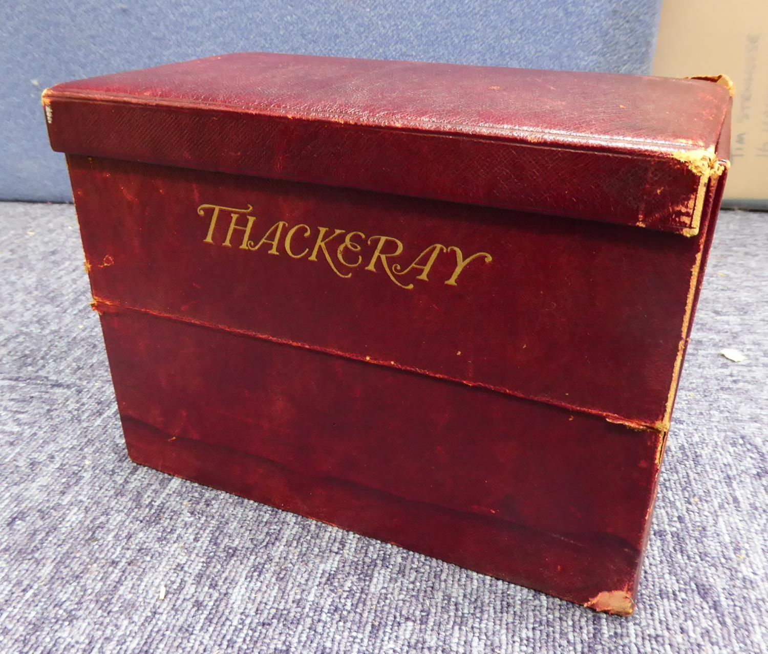 Lot 128 - THACKERAY - THE COMPLETE WORKS NEW CENTURY EDITION Thomas Nelson 1900 12 of 14 volumes Limp