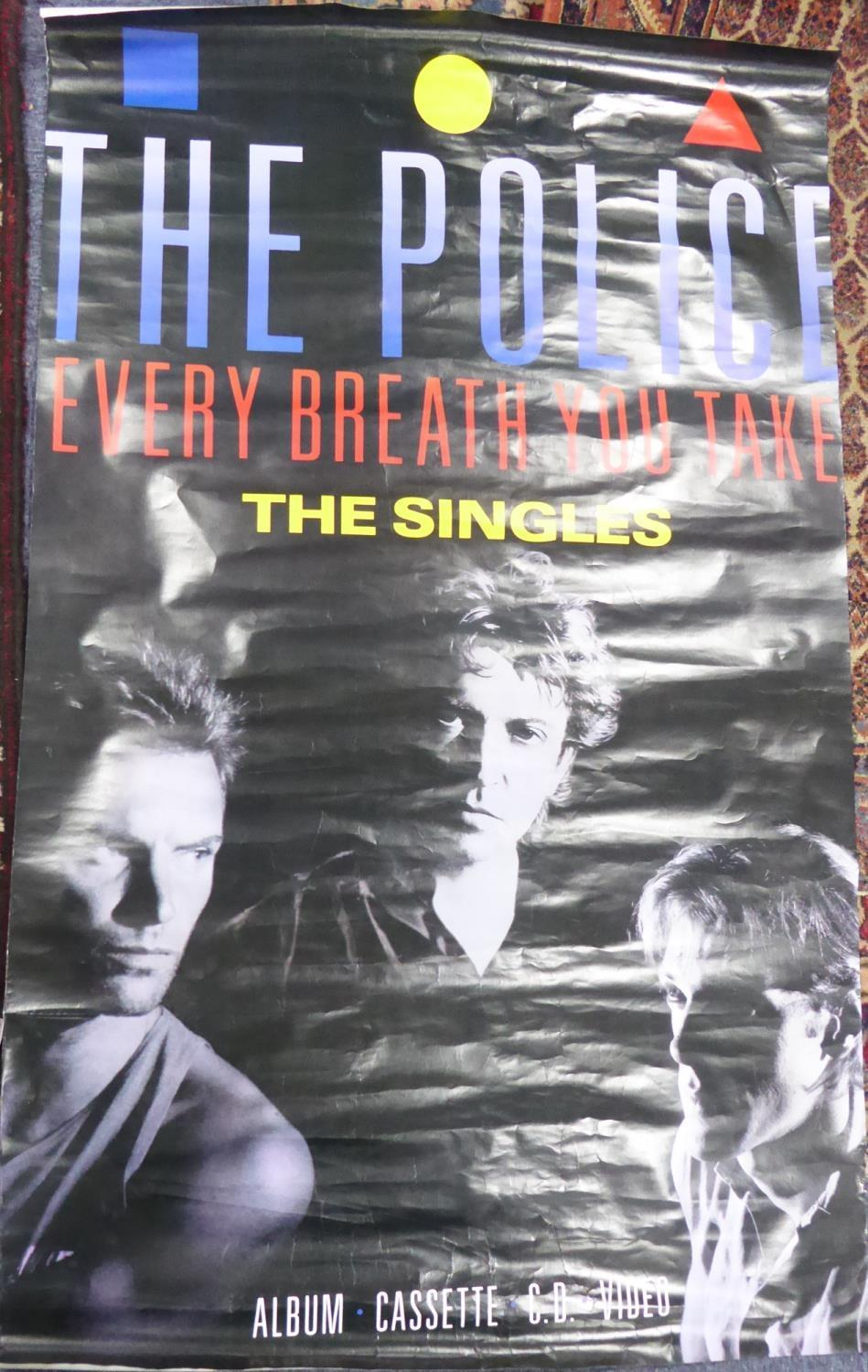 """Lot 528 - THE POLICE, 'EVERY BREATH YOU TAKE, THE SINGLES' LARGE ADVERTISING POSTER, 59"""" x 36"""" (150cm x 91."""