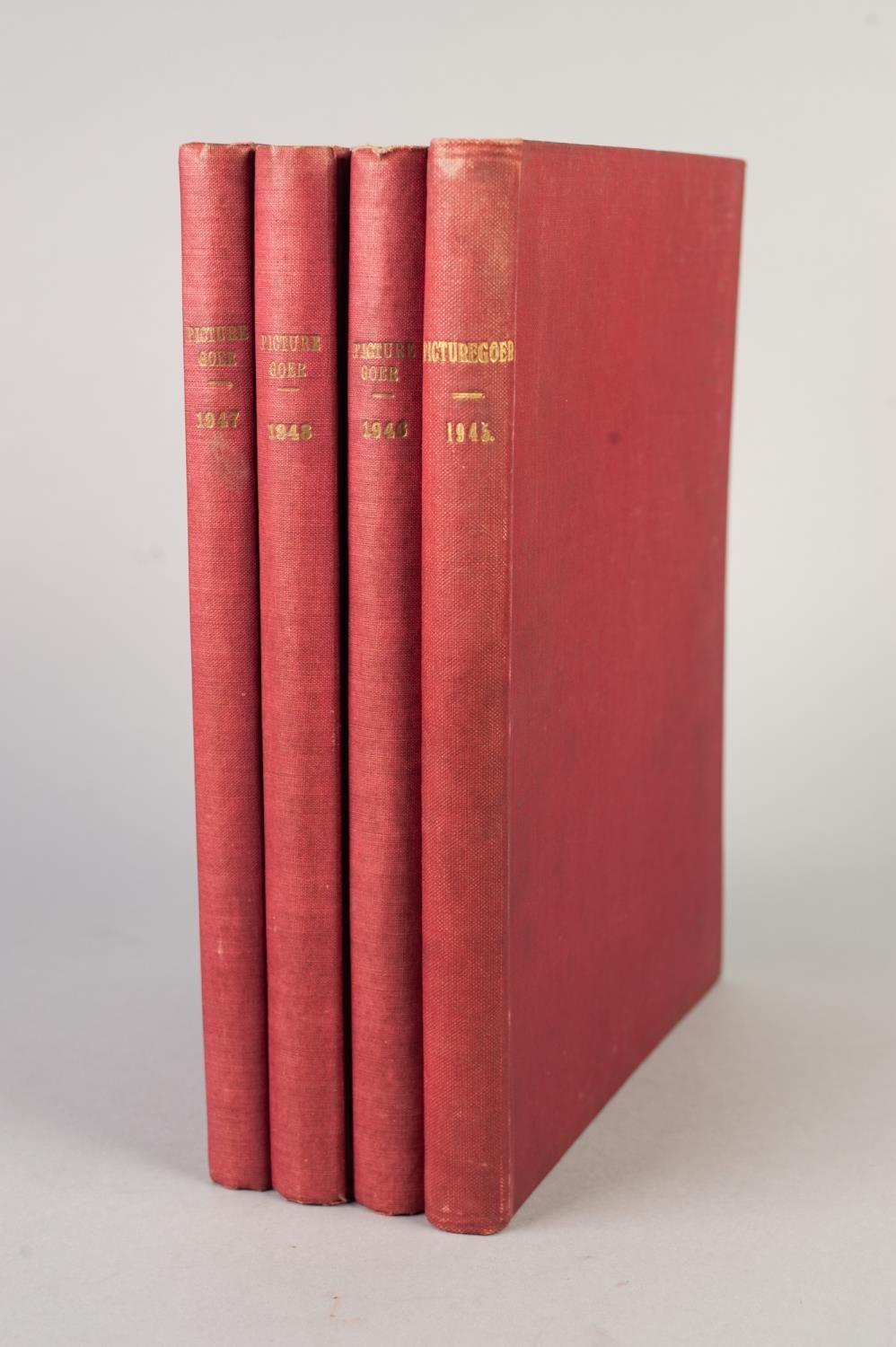 Lot 29 - SMALL SELECTION OF PICTUREGOER ANNUALS, 1940s, bound in red cloth, 1945, 1946, 1947, 1948, various