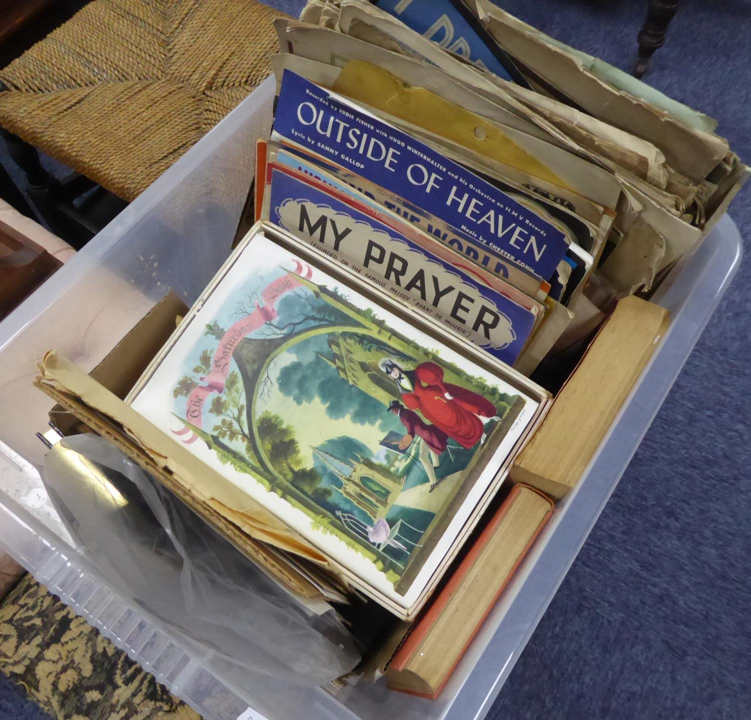 Lot 201 - 1930's AND LATER MUSIC RELATED EPHEMERA, including: TWO SMALL AUTOGRAPH ALBUMS, SECRETARY SIGNED