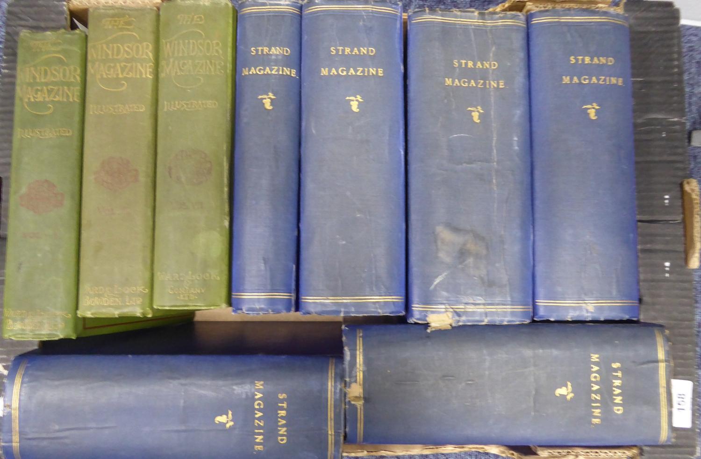 Lot 158 - THE STRAND magazine, various bound volumes with multiple volumes per binding Vol xviii 1899 & xxvi