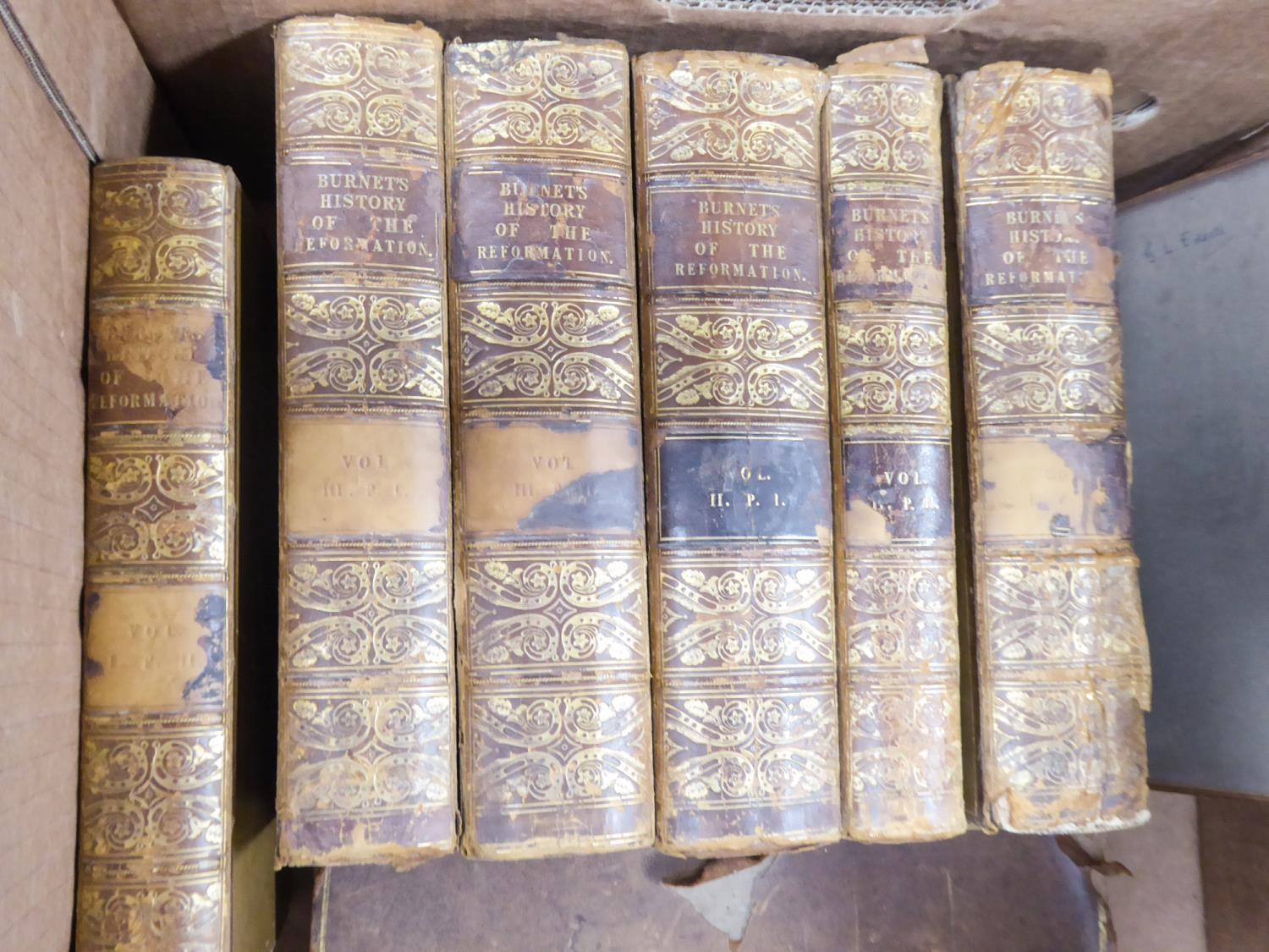 Lot 14 - BISHOP R BURNET, THE HISTORY OF THE REFORMATION, 6 volumes (3 volumes, 2 parts per volume),