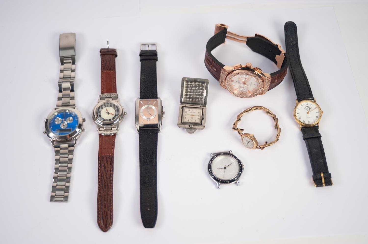 Lot 48 - A SELECTION OF WRISTWATCHES To include a ladies 9ct gold cased Rone wristwatch, a Paul Buhre
