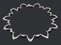A modernist Danish silver necklace by Arne Johansen