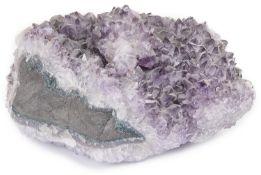 A large amethyst crystal geode