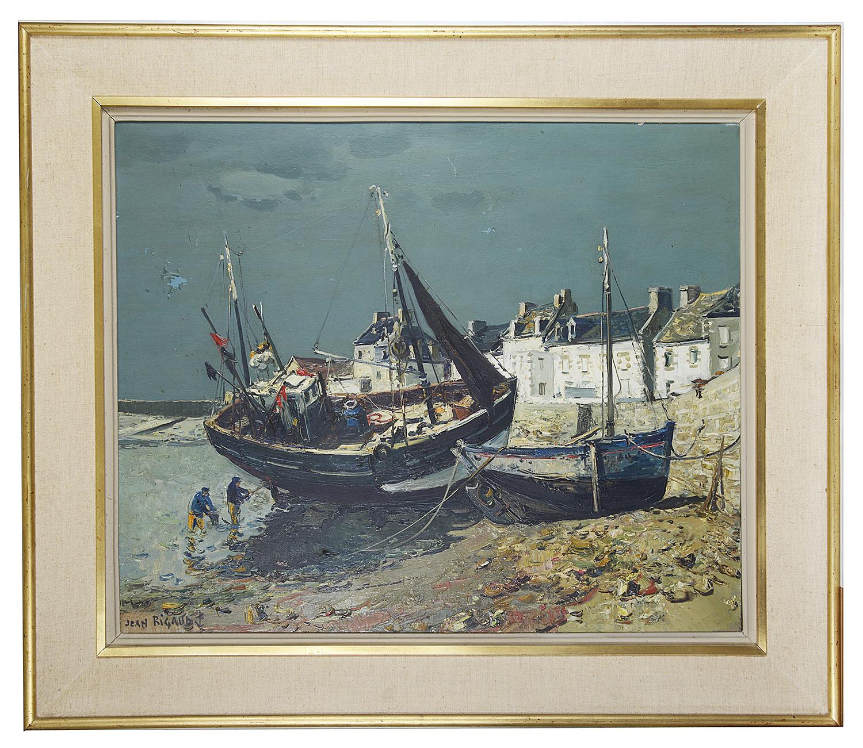 Lot 43 - Jean Rigaud (French, 1912 - 1999) 'Ile De Sein', oil on canvas