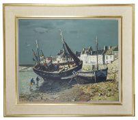 Jean Rigaud (French, 1912 - 1999) 'Ile De Sein', oil on canvas