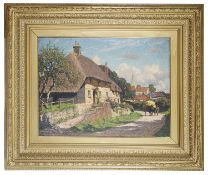 William G King (Brit., 1859-1940) 'Harting, Petersfield' oil on canvas