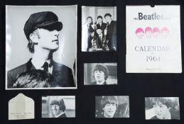 A collection of Beatles ephemera