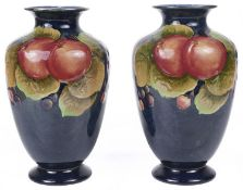 A pair of Shelley 'Pomegranate' pattern vases, c1928