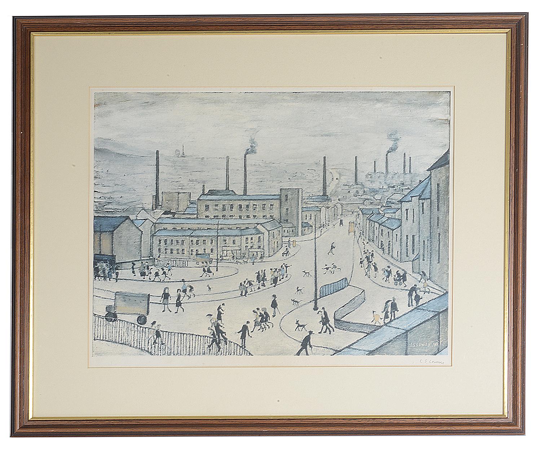 Lot 51 - Laurence S Lowry, RBA, RA, (Brit., 1887 - 1976) 'Huddersfield' print