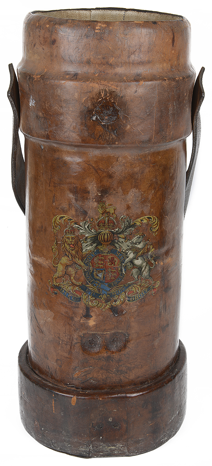 Lot 28 - An A.G & Co Ltd tan leather shell carrier