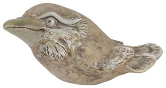 An unusual Martin Brothers style stoneware model of a grotesque bird