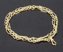 An 18ct gold fancy chain necklace