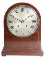 Lot 38 - A Winterhalter & Hofmier 8-day mahogany cased mantle clock
