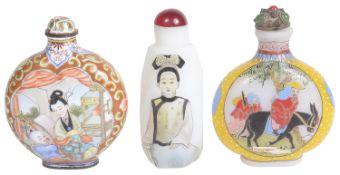 Three 20th century Chinese snuff bottles