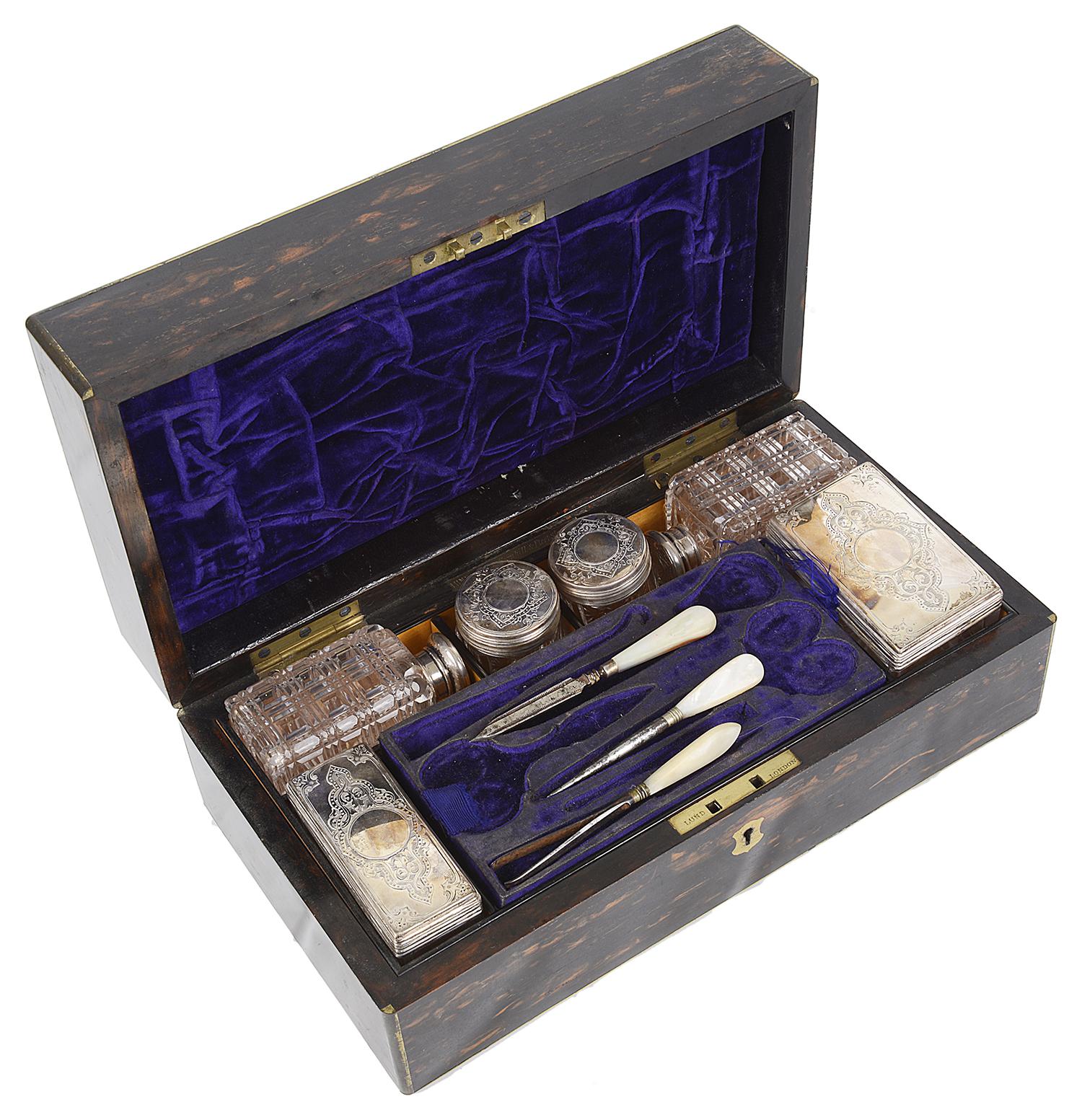 Lot 20 - A Victorian coromandel dressing table box William Lund of London