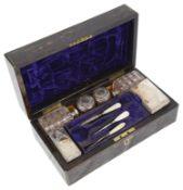 A Victorian coromandel dressing table box William Lund of London