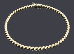 A Continental 14k gold twist link necklace