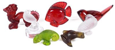 A collection of Lalique, Daum and Baccarat glass animals, 20th century
