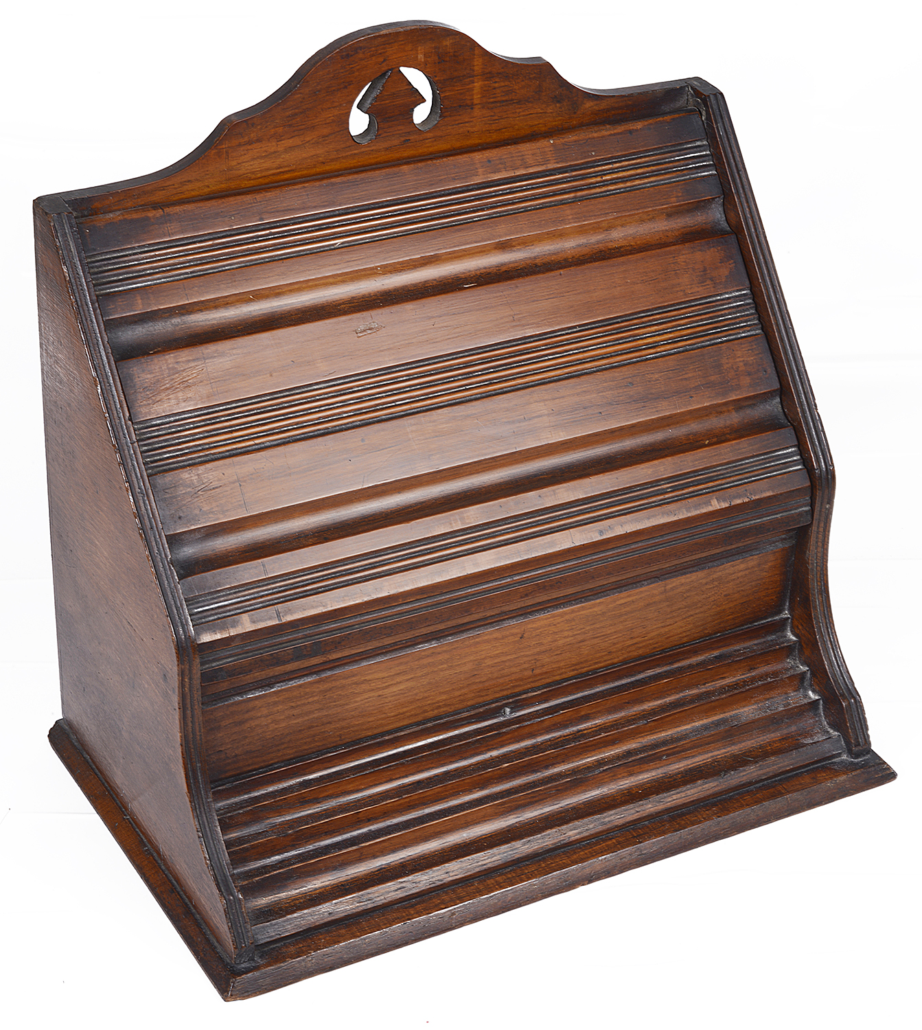 Lot 25 - A mahogany upright letter holder, early 20th century