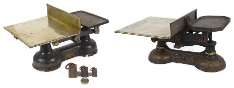 A Herbert & Sons Kings Cross shop counter scales and another