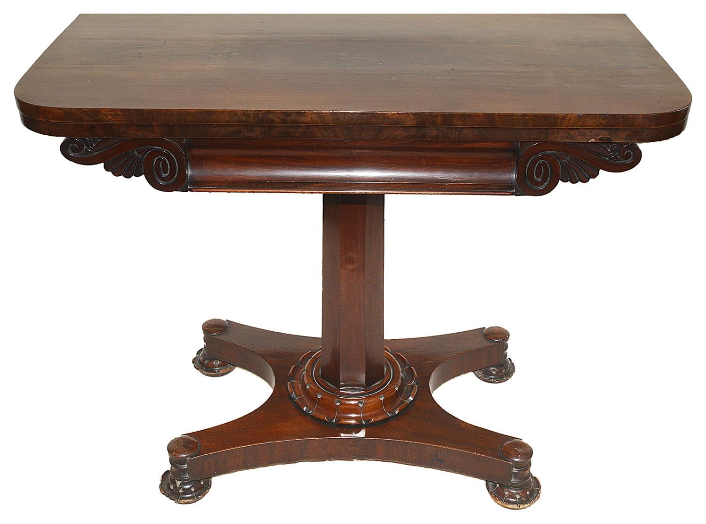 Lot 1 - A Victorian mahogany fold over card table