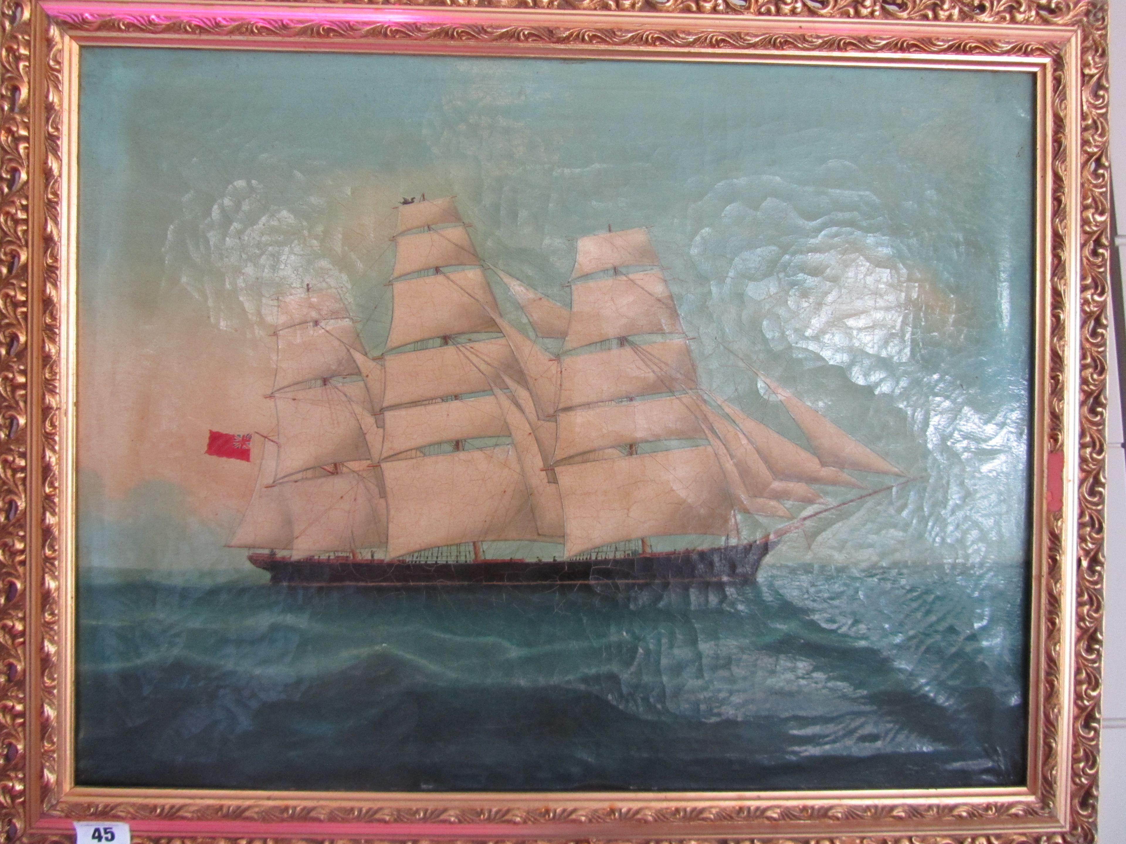 Lot 45 - Chinese School Third quarter 19th century 'Sir Lancelot' oil on canvas