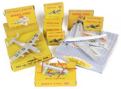 A collection of boxed Dinky fighter planes
