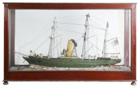A late 19th century ship model of the steamer 'Aberdeen'