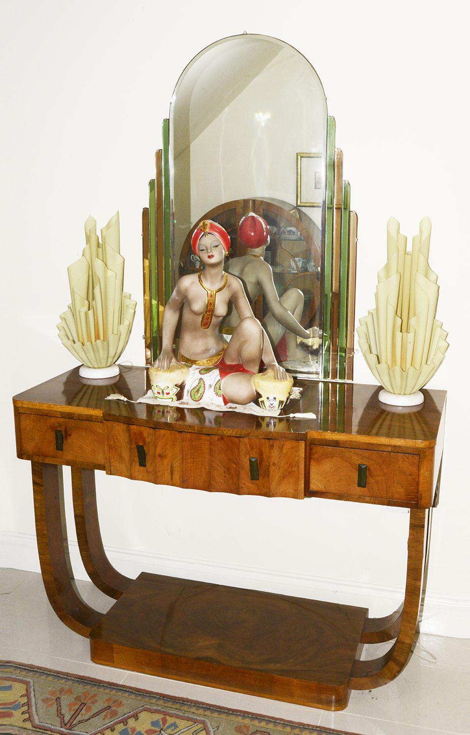 Lot 5 - An Art Deco mahogany console table