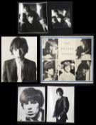 An original early black and white Rolling Stones poster with blue border