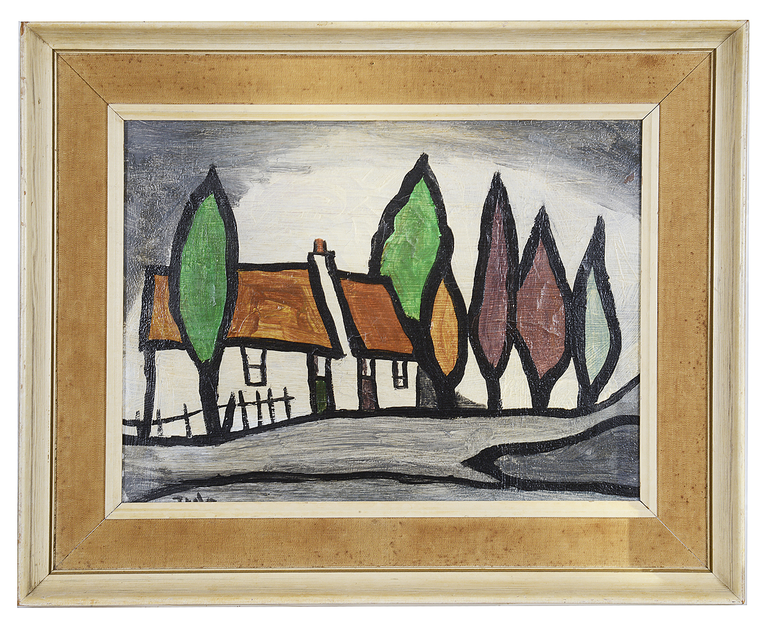 """Lot 42 - Irish School, style of J.P Rooney, 20th century """"Autumn Comes Donegal"""""""