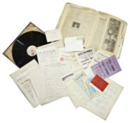 Archive of The Women's Social Political Union (WSPU), incl. documents signed by Emmeline Pankhurst