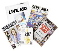 A collection of Rock Ephemera Relating to Live Aid 1985