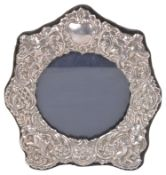 A contemporary silver picture frame, London 1990 by Keyford Frames Ltd