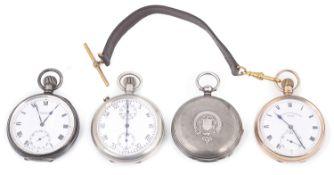 A 9ct gold Sir John Bennett open faced pocket watch,