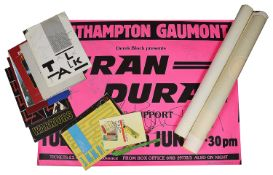 An interesting collection of early 1980s pop music posters, programmes, tickets