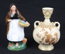 A Royal Worcester porcelain figure 'Lough Neagh Mary', c1931, modelled by Anne Acheson; 1 other