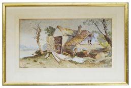 Charles Edmund Rowbotham (Brit., 1823 - 1875) 'At Eltham Kent', watercolour, signed