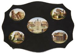 A mid 19th c. Italian Grand Tour micro mosaic paperweight