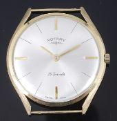 A 9K gold Rotary gentleman's wristwatch